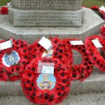 poppies on Brandon war memorial