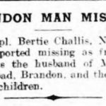 News clipping of Bertie Challis