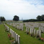 Graves at Peronne Road Cemetery