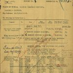 George Branch's burial document